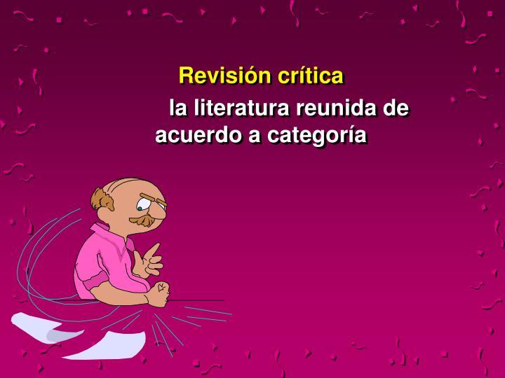 Revisión crítica