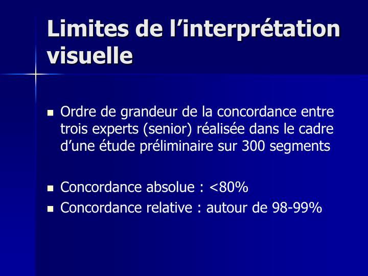 Limites de l'interprétation visuelle