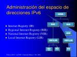 administraci n del espacio de direcciones ipv6