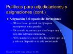 pol ticas para adjudicaciones y asignaciones cont6