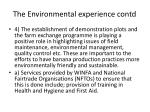the environmental experience contd