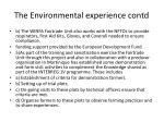 the environmental experience contd1