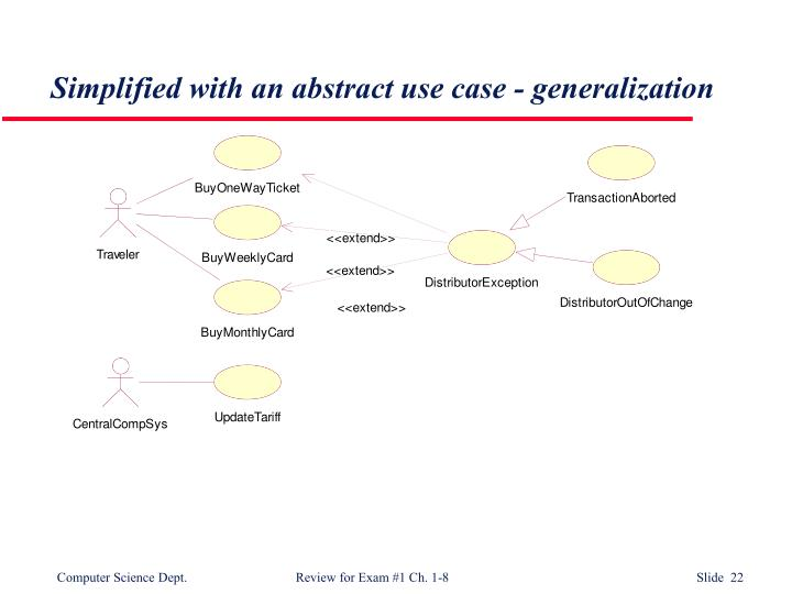 Simplified with an abstract use case - generalization