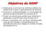 objetivos do itsmf