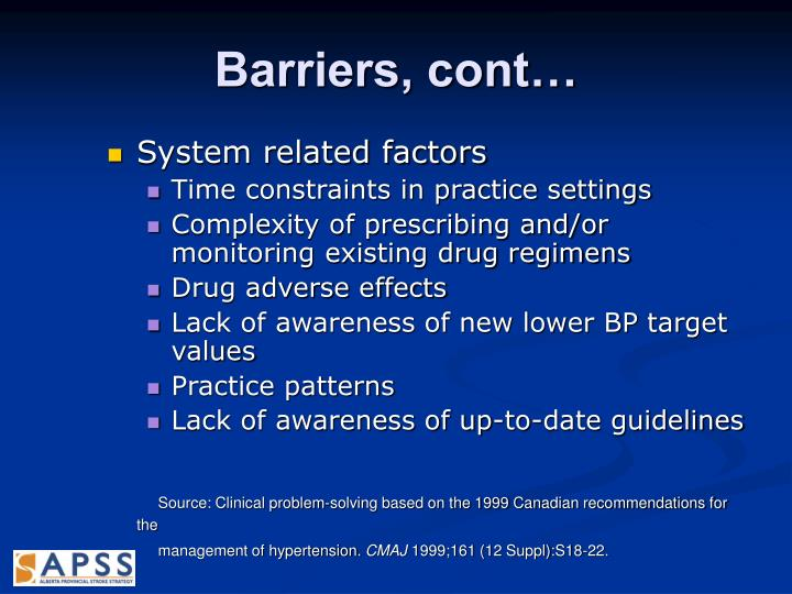 Barriers, cont…