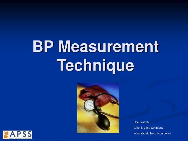 BP Measurement Technique