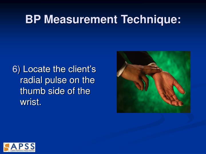 BP Measurement Technique: