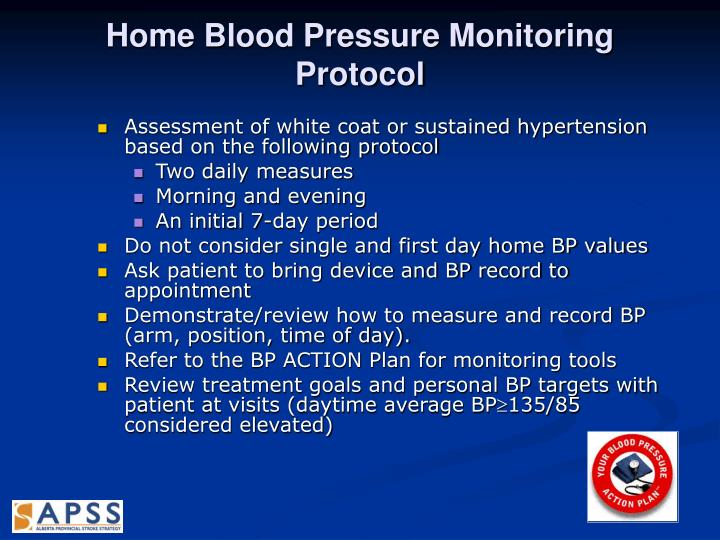 Home Blood Pressure Monitoring Protocol