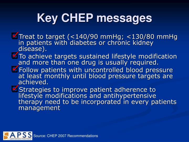 Key CHEP messages