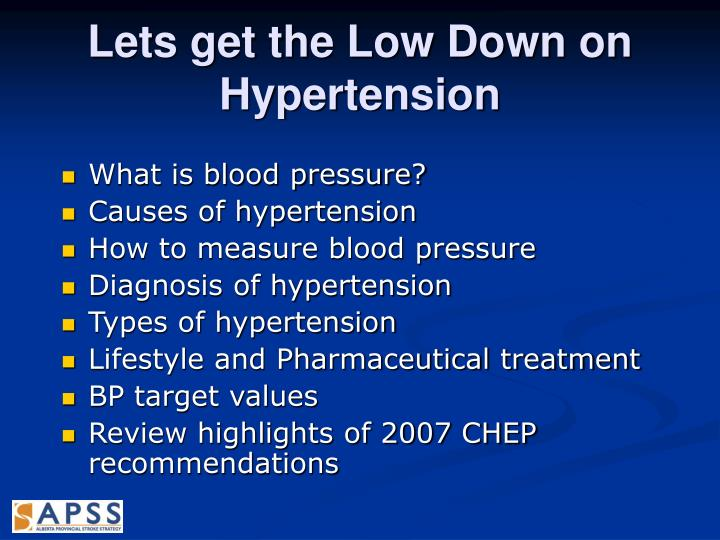 Lets get the Low Down on Hypertension