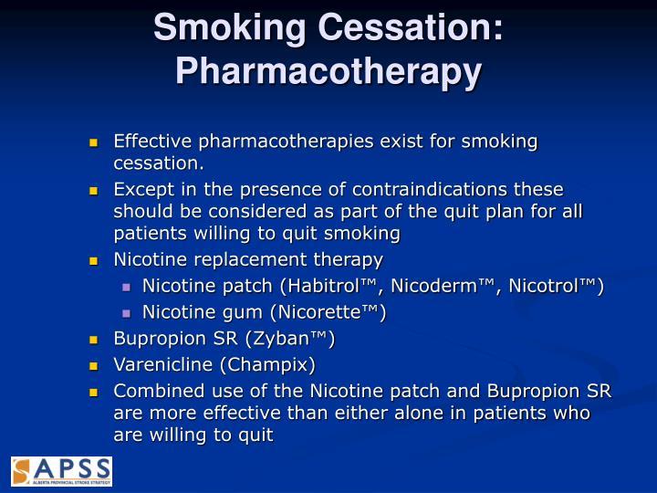Smoking Cessation: Pharmacotherapy