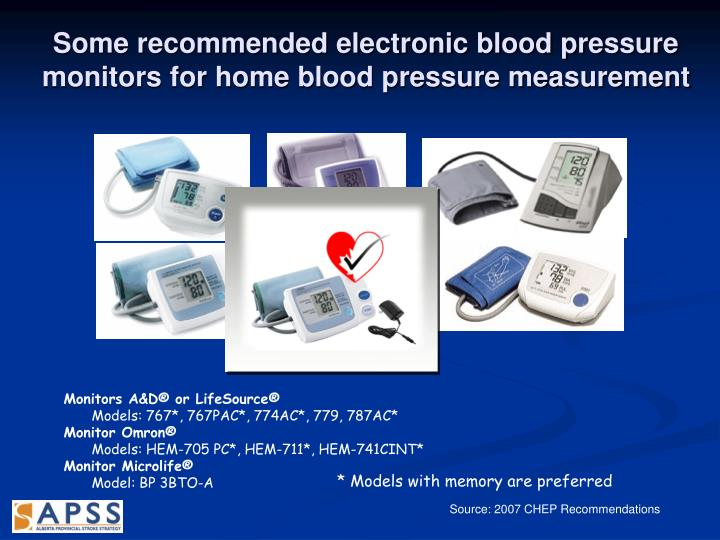 Some recommended electronic blood pressure monitors for home blood pressure measurement