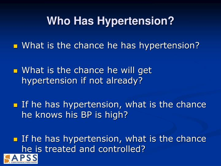 Who Has Hypertension?