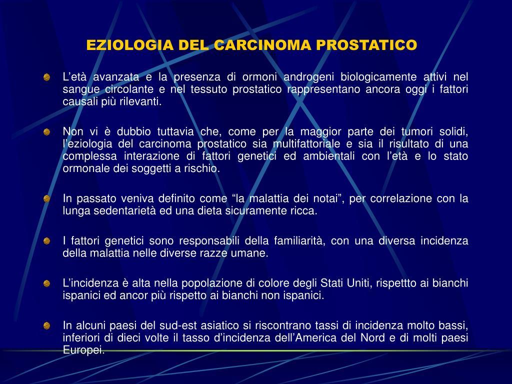 presentazione ppt del cancro alla prostata