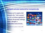 europski principi nastavni ke kompetencije