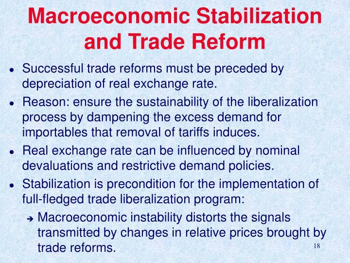 Macroeconomic Stabilization and Trade Reform
