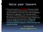 voice your concern