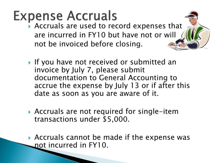 Expense Accruals
