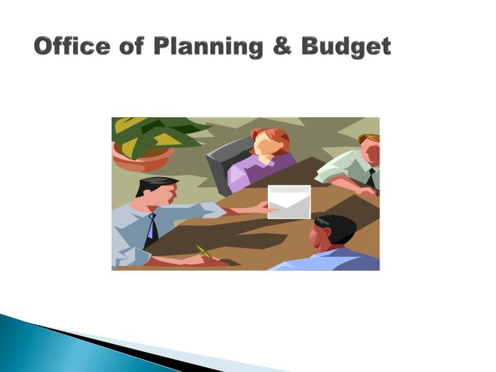 Office of planning budget