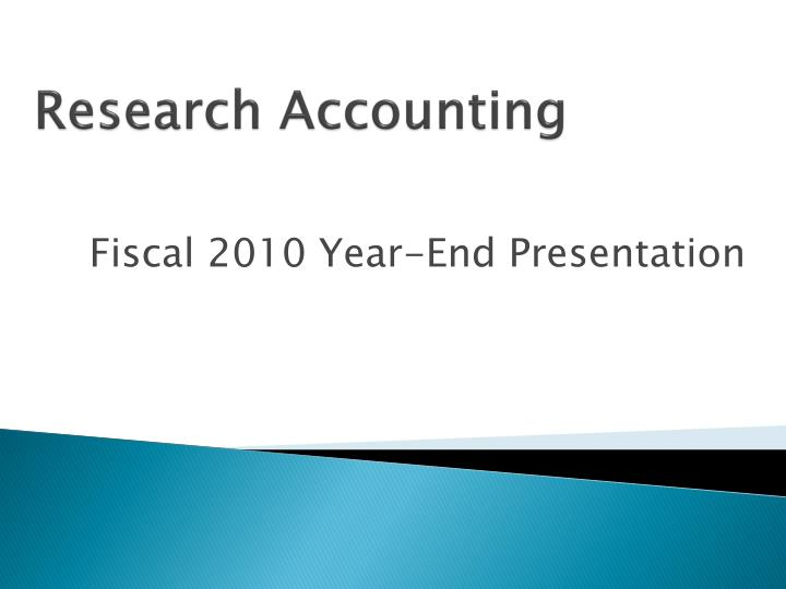 Research Accounting