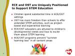 ece and ost are uniquely positioned to support stem education