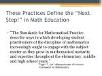these practices define the next step in math education