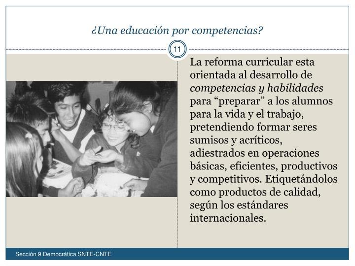 ¿Una educación por competencias?