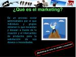 qu es el marketing