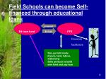 field schools can become self financed through educational loans