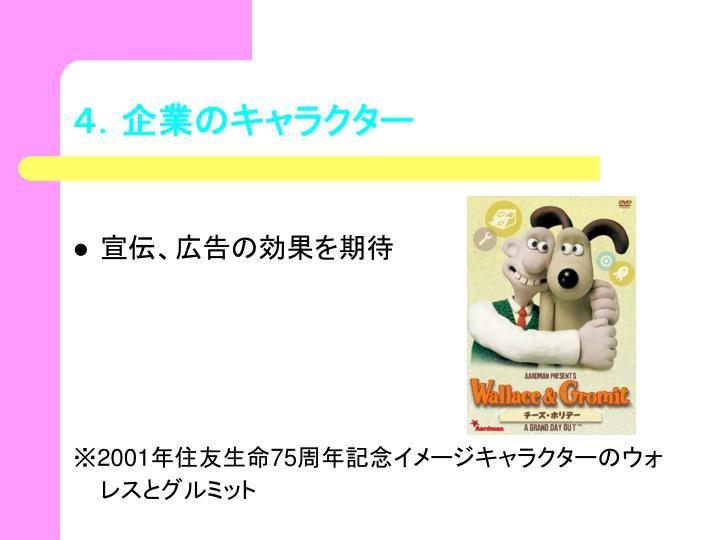 4.企業のキャラクター