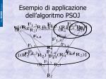 esempio di applicazione dell algoritmo psoj
