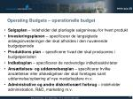 operating budgets operationelle budget1