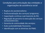 condi es para articula o das entidades e organiza es de assist ncia social