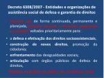decreto 6308 2007 entidades e organiza es de assist ncia social de defesa e garantia de direitos