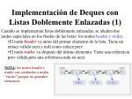 implementaci n de deques con listas doblemente enlazadas 1