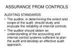 assurance from controls