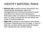 identify material risks