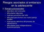 riesgos asociados al embarazo en la adolescente1