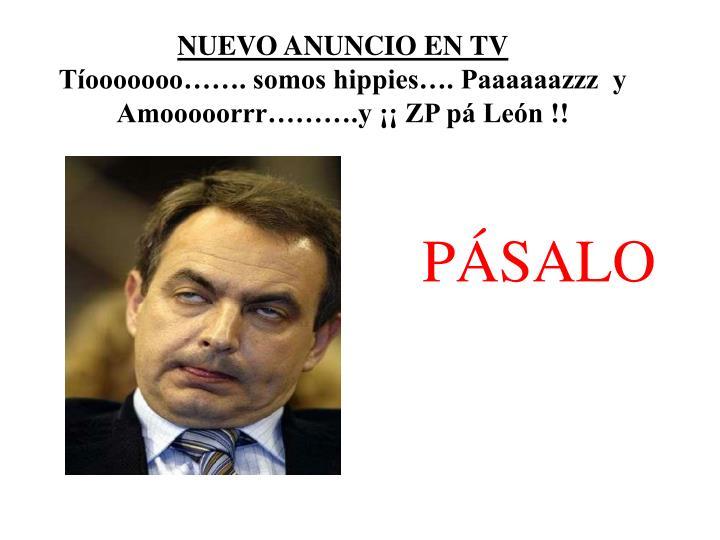 NUEVO ANUNCIO EN TV