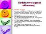 kodeks etyki agencji reklamowej