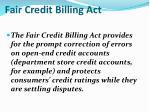 fair credit billing act