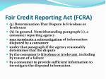 fair credit reporting act fcra2