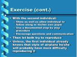 exercise cont