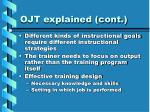 ojt explained cont1