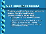 ojt explained cont2
