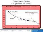 convergencia ex post los que ahora son ricos