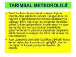 tarimsal meteoroloj