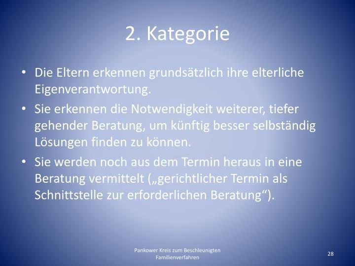 2. Kategorie