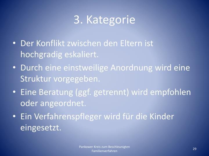 3. Kategorie
