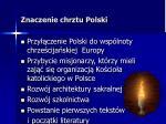 znaczenie chrztu polski